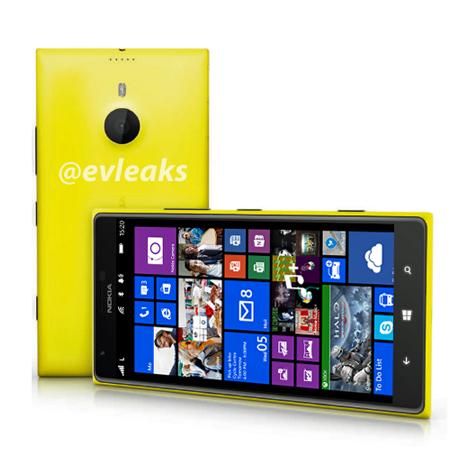 Lumia 1520, em imagem vazada pelo perfil @evleaks.