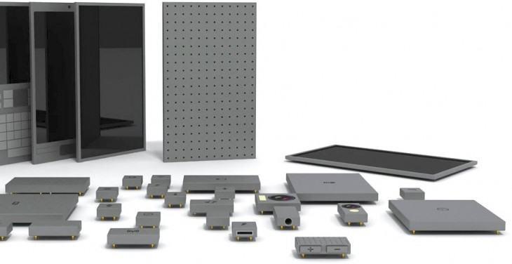 Um monte de módulos para montar seu próprio smartphone!