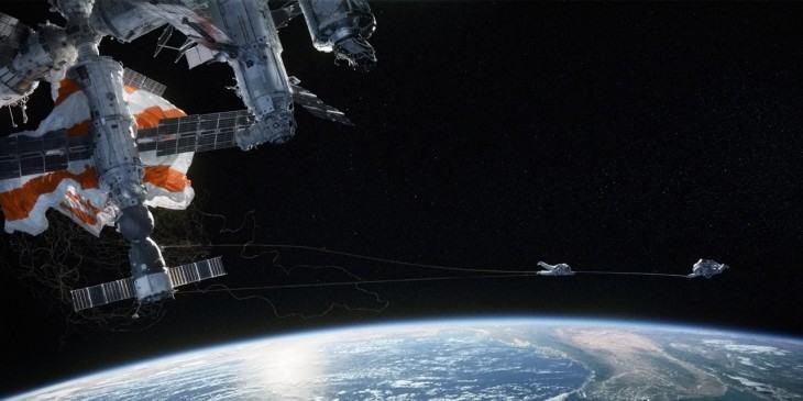 A imensidão do espaço em Gravidade.