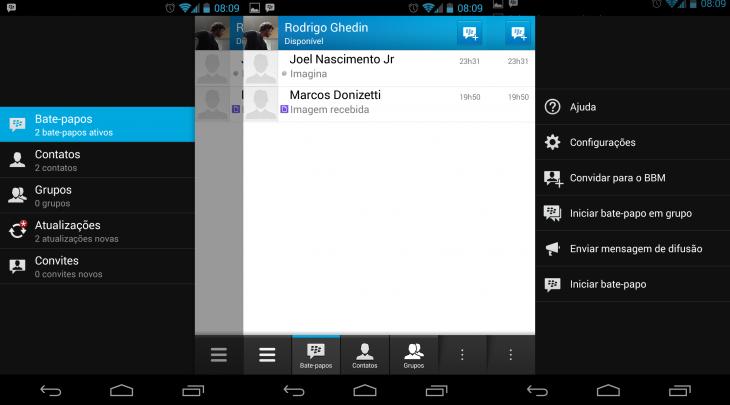 Não se engane, este BBM é o do Android.