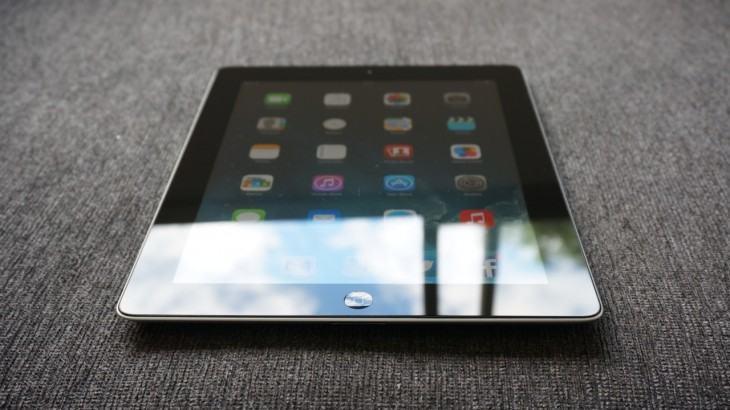 iPad 2 atualizado e com reflexo do Sol.