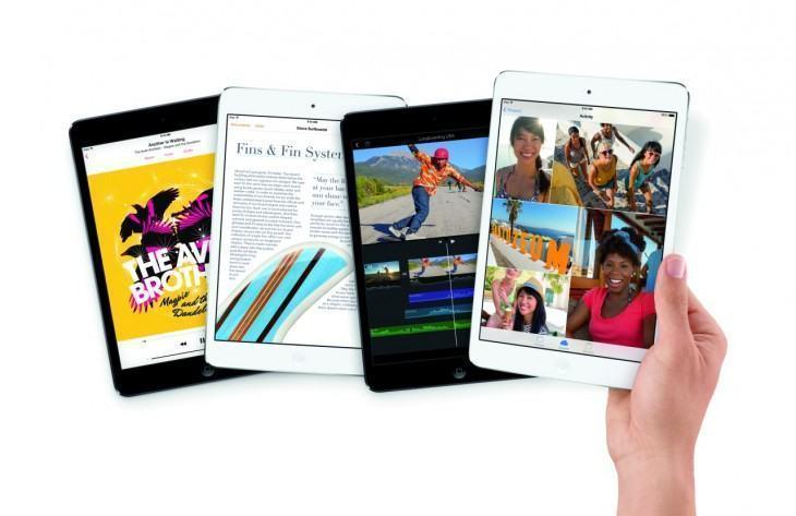 Foto de divulgação do iPad mini com tela Retina.