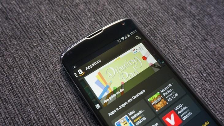 App da Amazon Appstore em um Nexus 4.