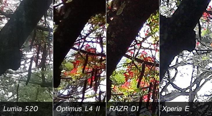 Comparando as câmeras dos smartphones em análise.