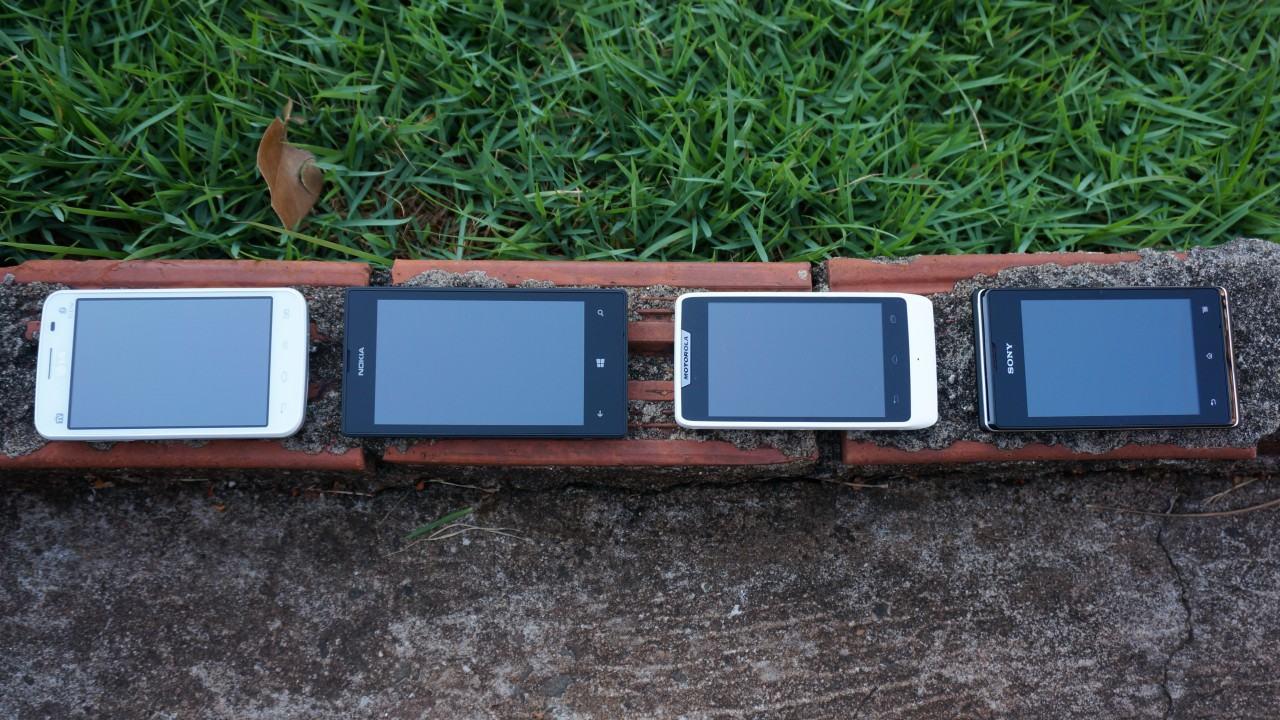 Lumia 520, Optimus L4 II, Razr D1 ou Xperia E: qual o melhor smartphone abaixo de R$500?