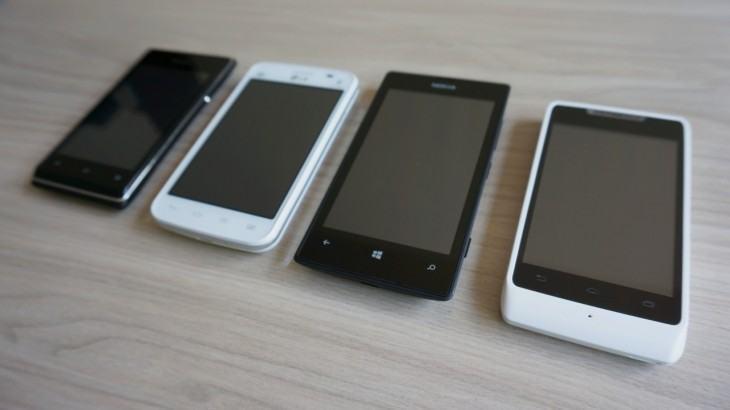 Os quatro competidores, lado a lado.