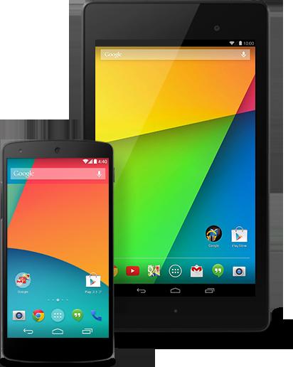 Nexus 5 e Nexus 7, lado a lado.
