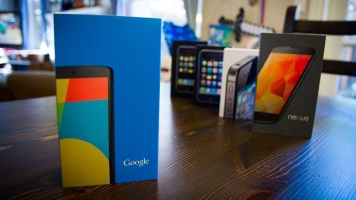 Caixas de smartphones modernos.