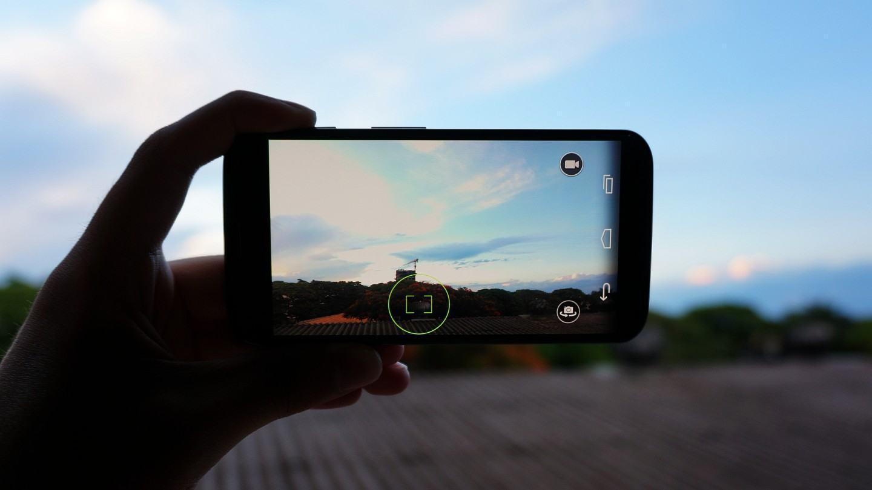 Câmera do Moto X: software legal, porém limitado.