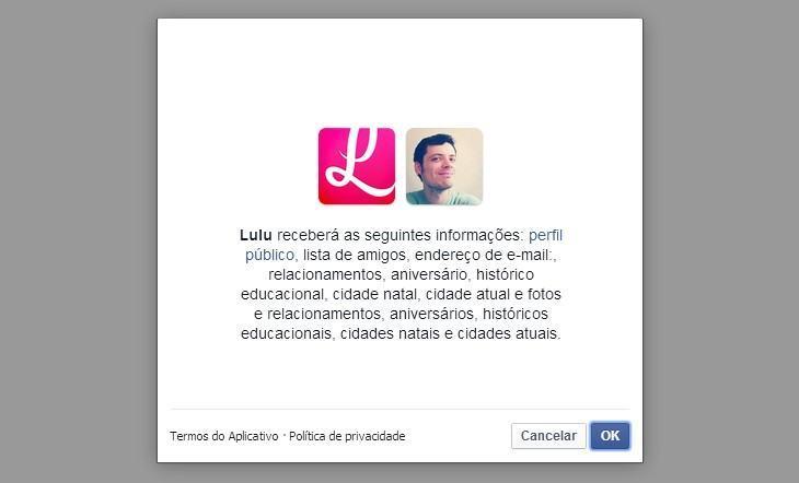 Para se descadastrar, Lulu pede informações do usuário.
