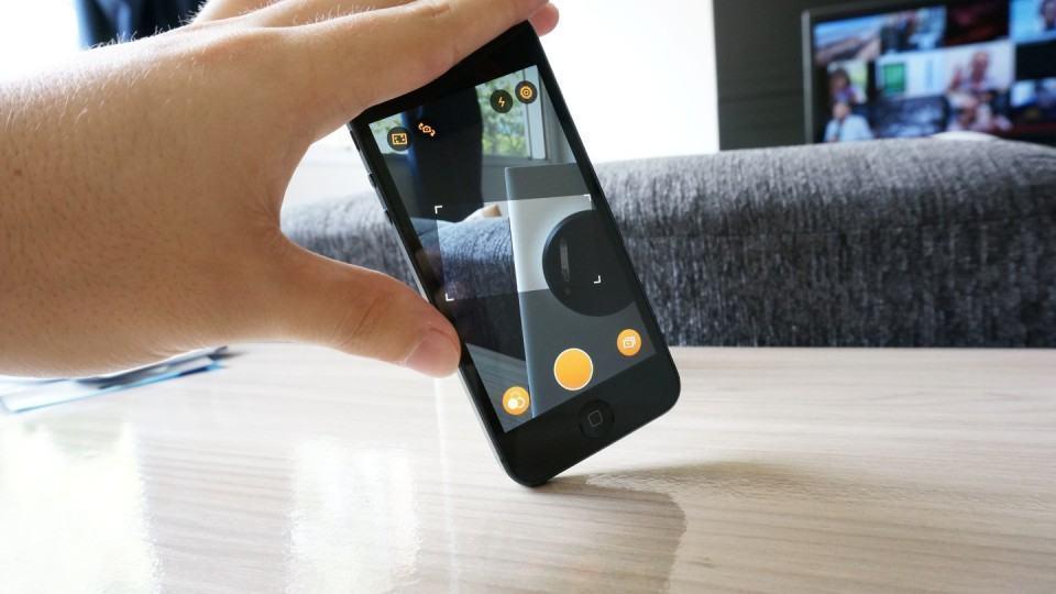 Horizon em ação: filmagem em modo paisagem mesmo com o celular na vertical.