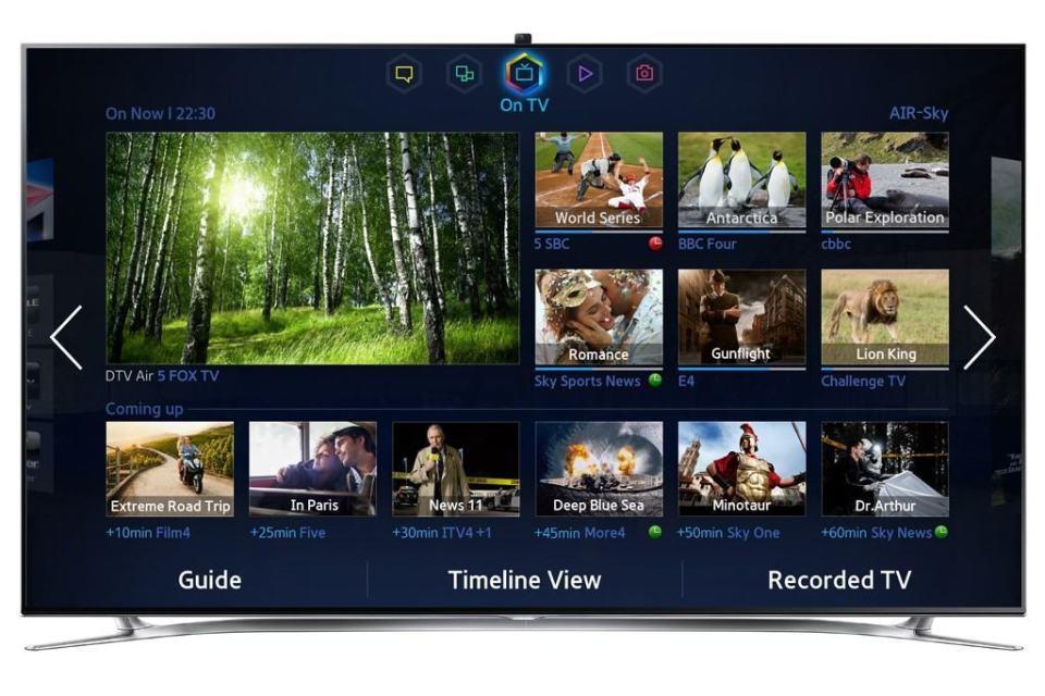 Apps e mais apps nas Smart TVs da Samsung.