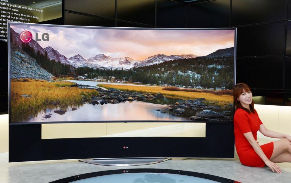 A enorme TV de US$ 150 mil da LG.