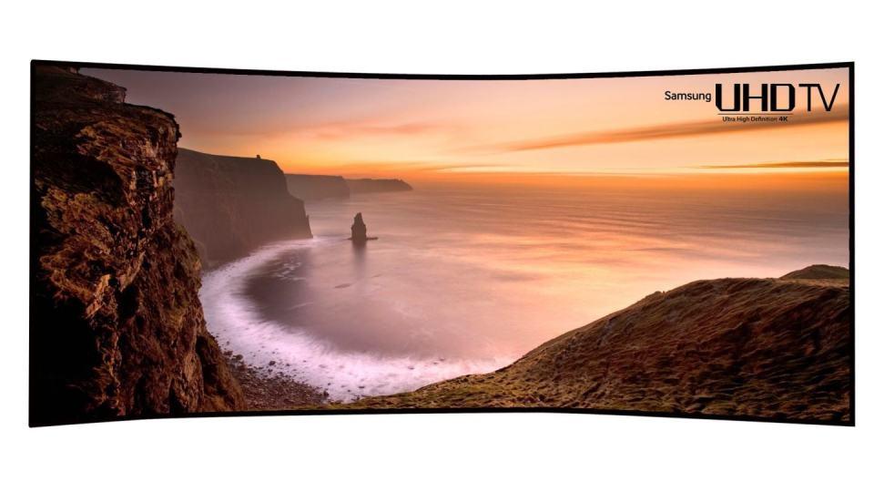 A enorme TV da Samsung.