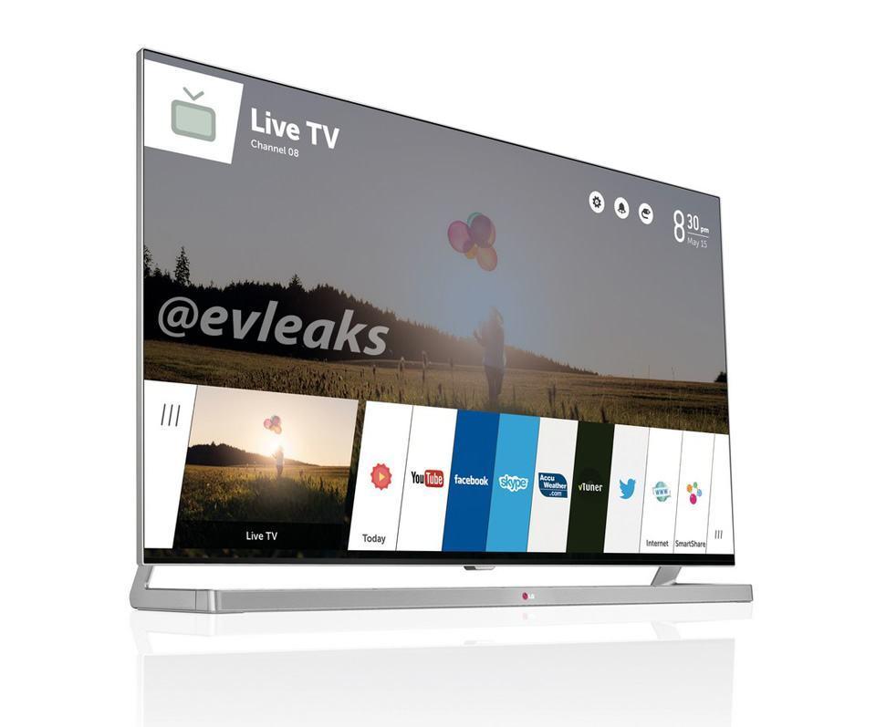 Imagem vazada da TV da LG com webOS.
