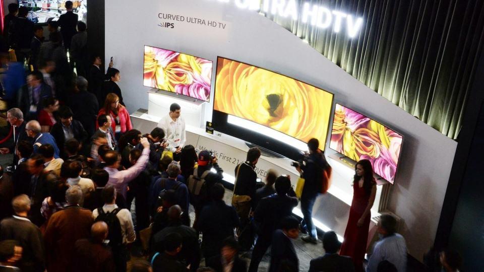 TVs Ultra HD são demonstradas pela LG.