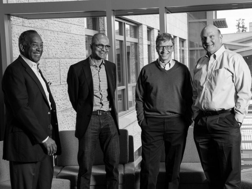 Os homens fortes da Microsoft.