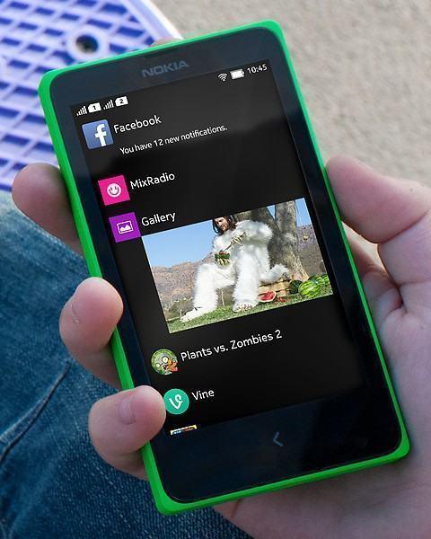 Fastlane, herança do Asha, no Nokia X.