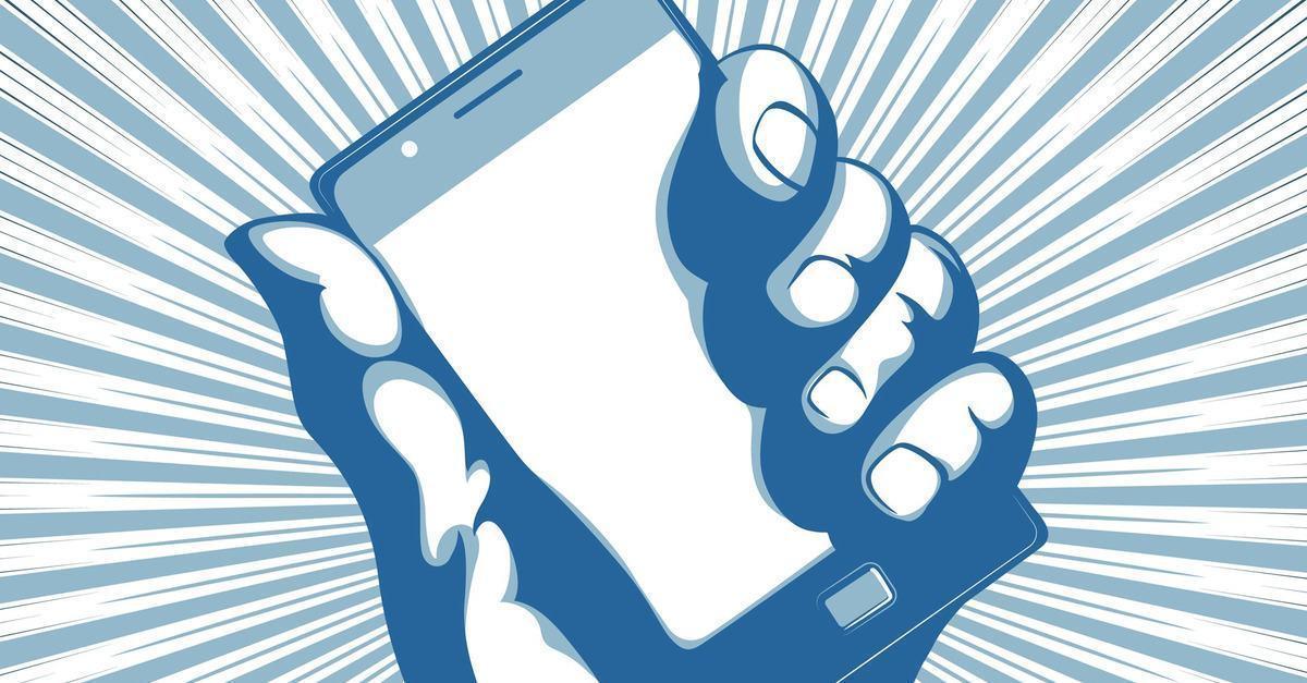 Ilustração de um smartphone.