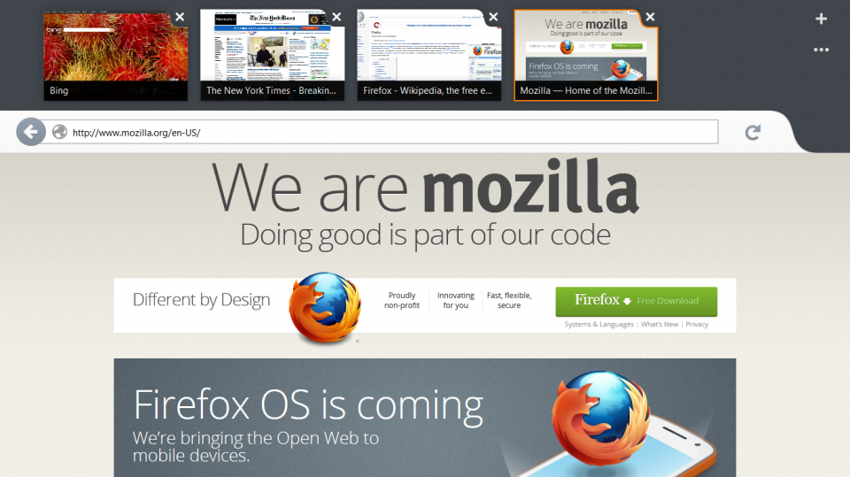 Firefox Metro: desenvolvimento cancelado.