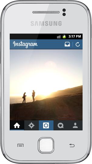 Otimização para telas pequenas no novo Instagram.