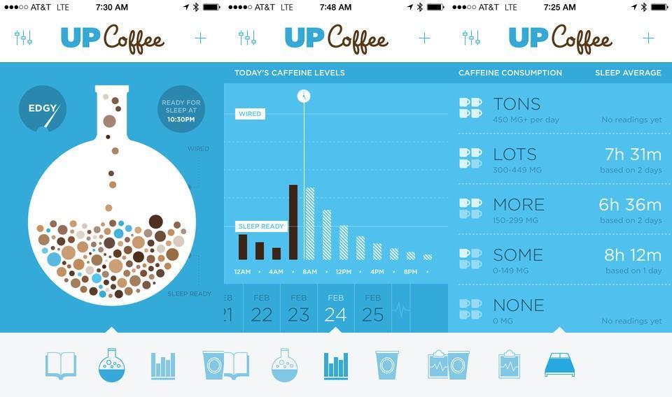 Screenshots do UP Coffee.