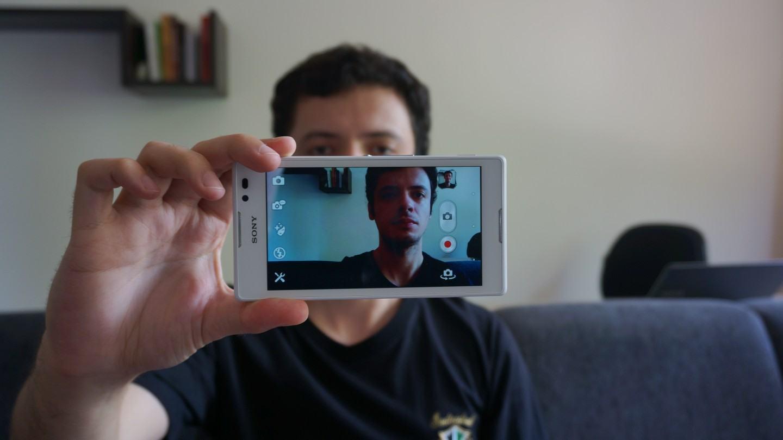 Selfies no Xperia C.