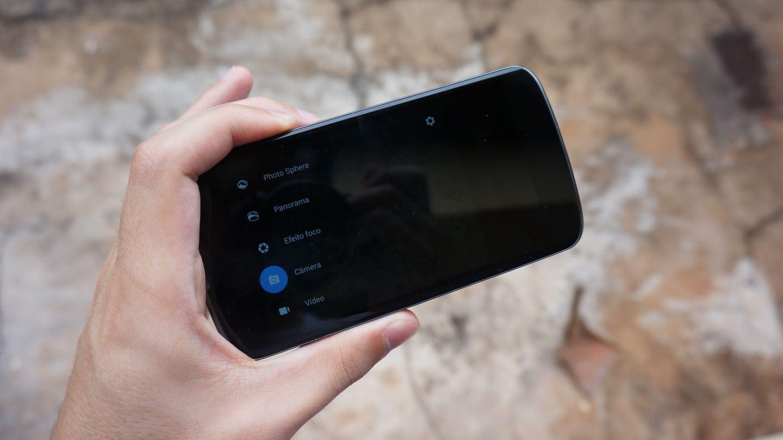 O novo app Câmera do Google em um Nexus 4.