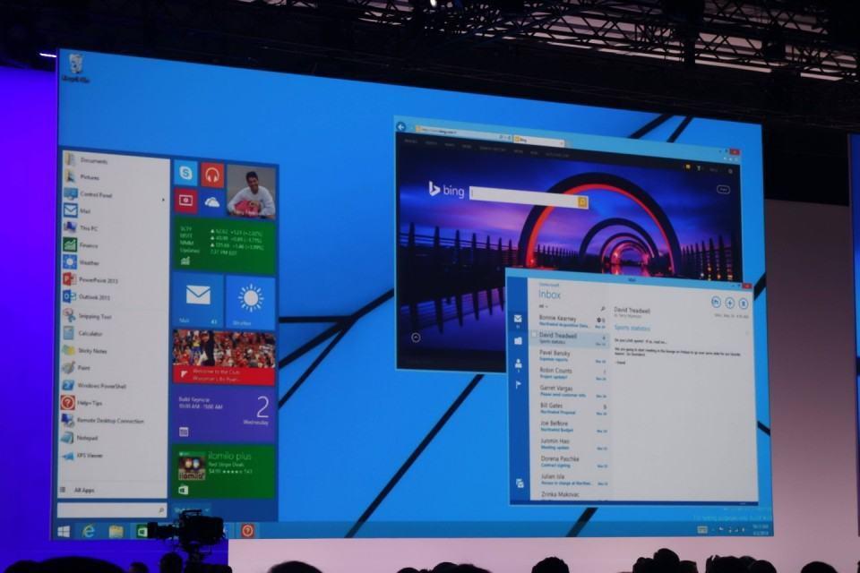 novo Menu Iniciar e apps modernos rodando em janelas.