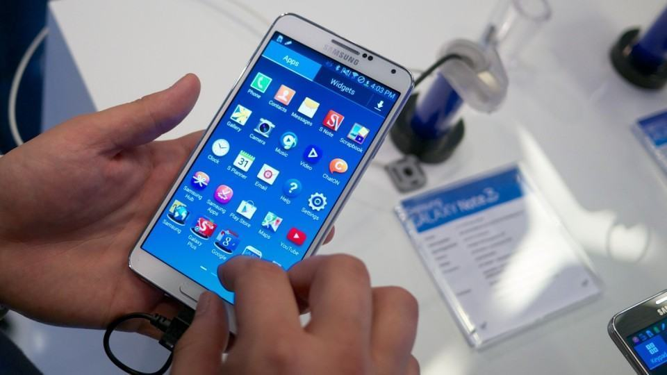Galaxy Note 3 e sua tela de 5,7 polegadas.