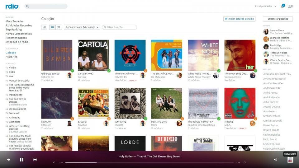 Organização por álbuns é central no Rdio.