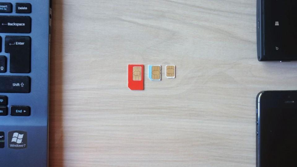 Mini, micro e nano SIM.