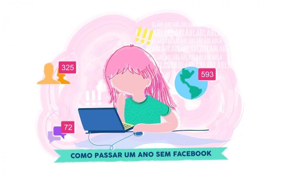 Ilustração para o post sobre um ano sem Facebook.