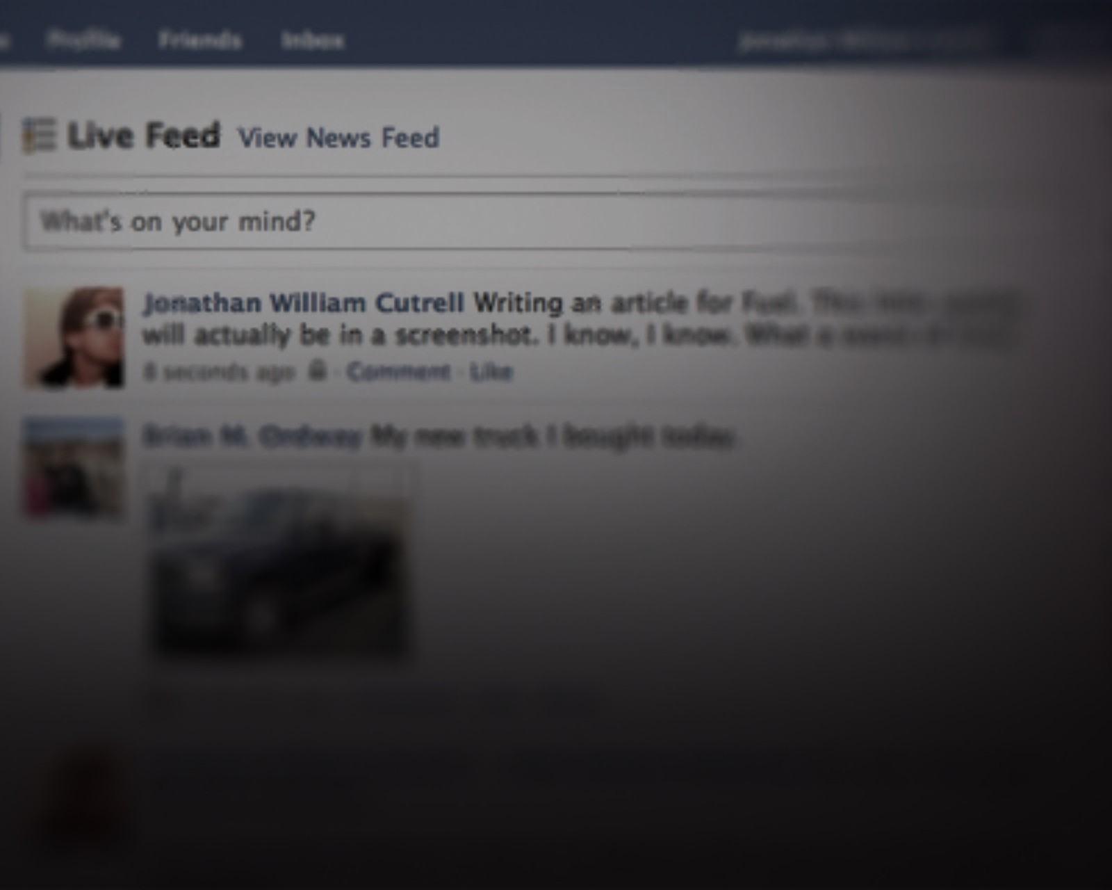 Matei o Feed de notícias do Facebook