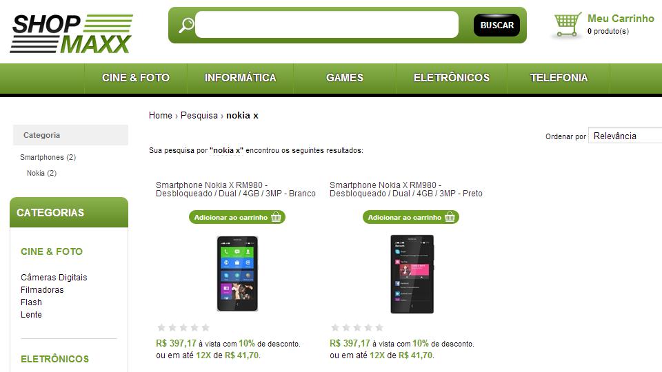 Mesmo sem ter chegado oficialmente ao Brasil, Nokia X já é vendido.