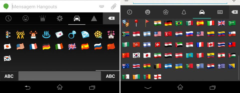 Android é bem permissivo com emojis diferentes.