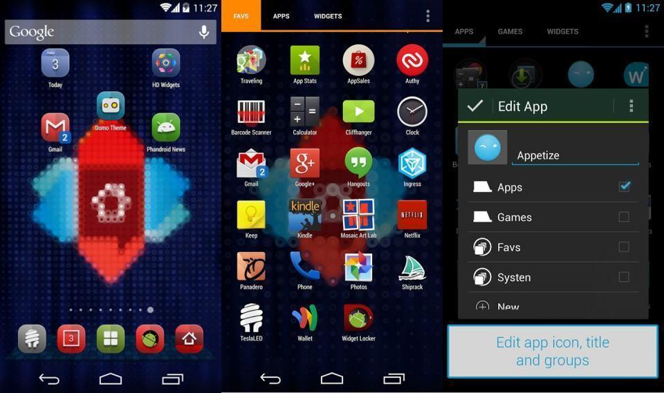 O Nova Launcher é bem parecido com o Android puro.