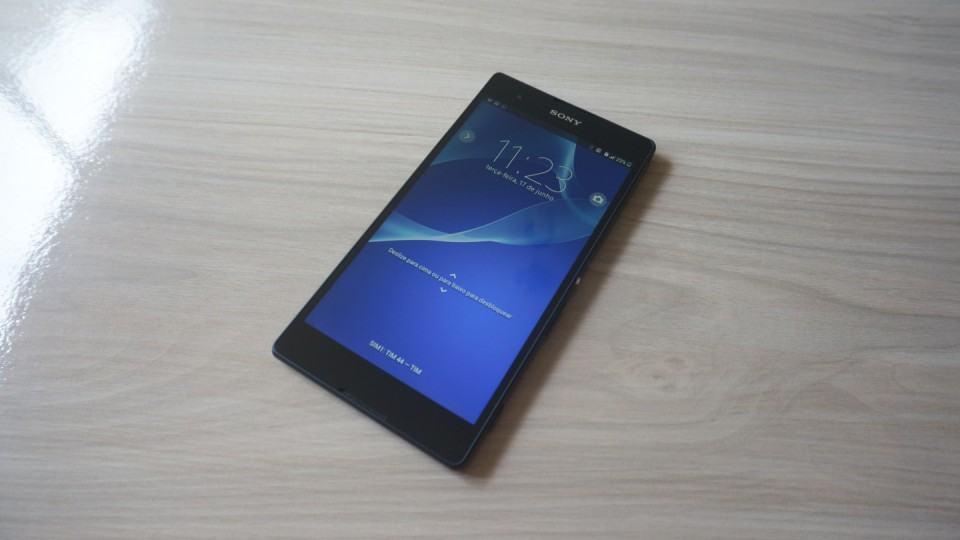 A tela do Xperia T2 Ultra Dual surpreende.