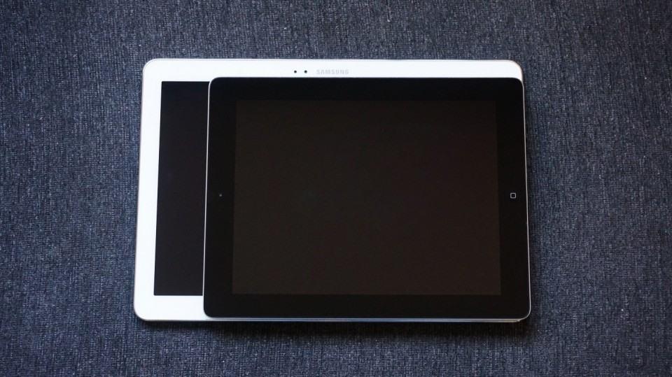 Dois tablets, dois tamanhos.