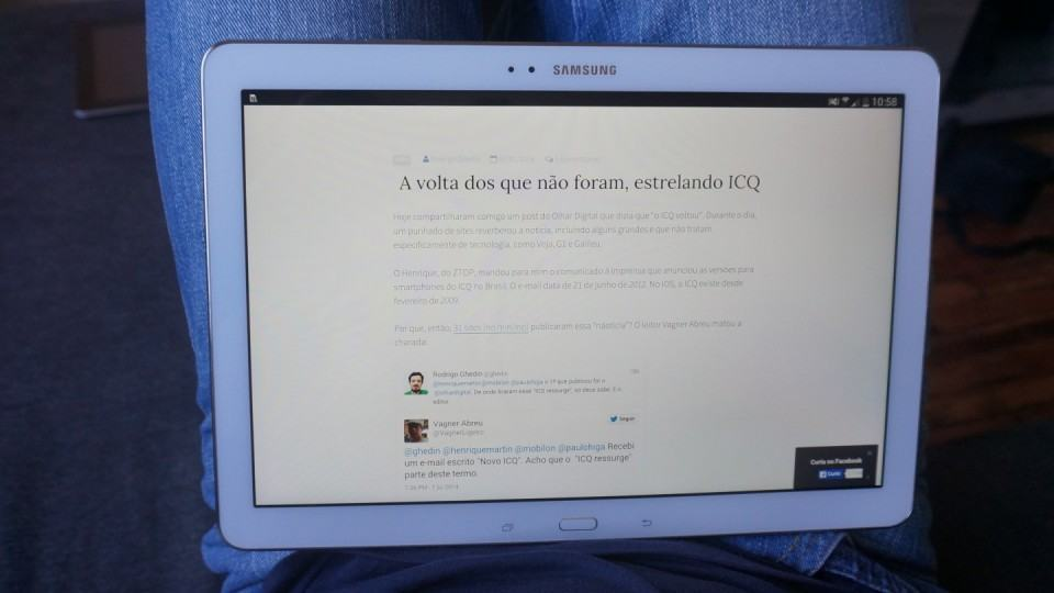 Usando o Galaxy Note Pro 12.