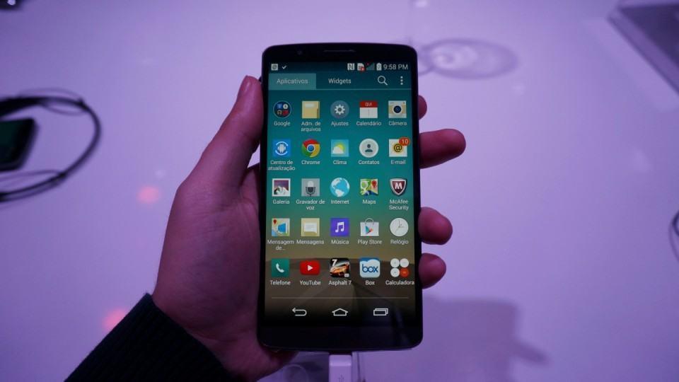 A nova interface do Android da LG.
