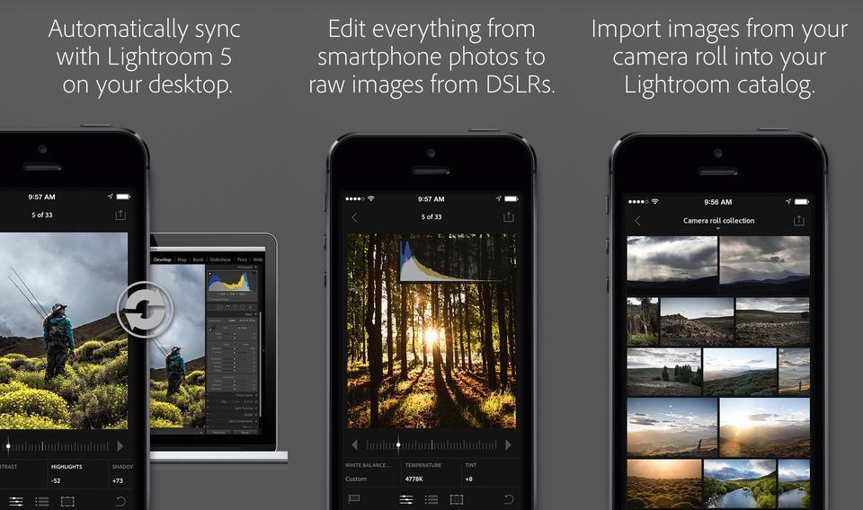 Screenshots do Lightroom.