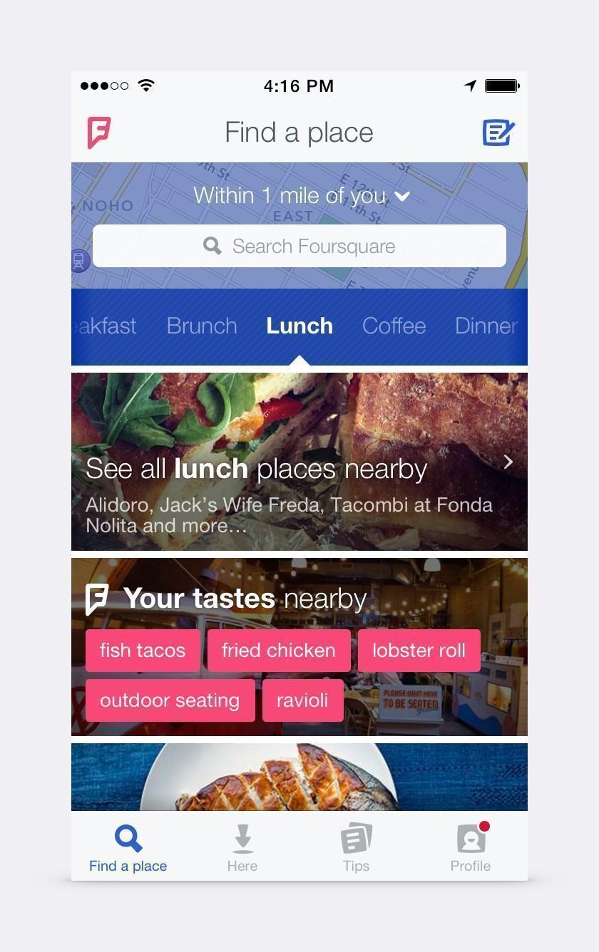O renovado Foursquare.