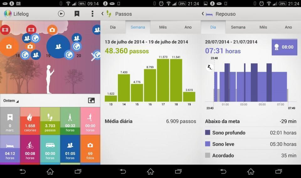 Lifelog, o app companheiro creepy da Sony.