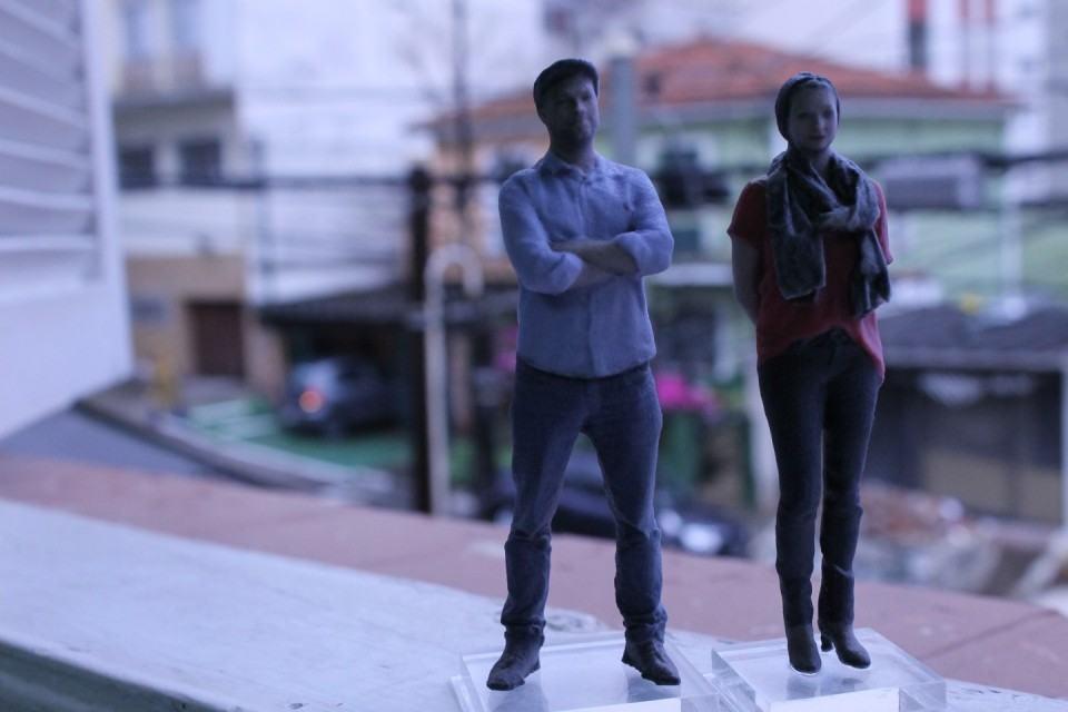 Bonecos 3D feitos pela Avatoys.