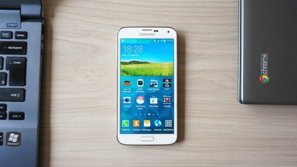 Primeiras impressões do Galaxy S5.