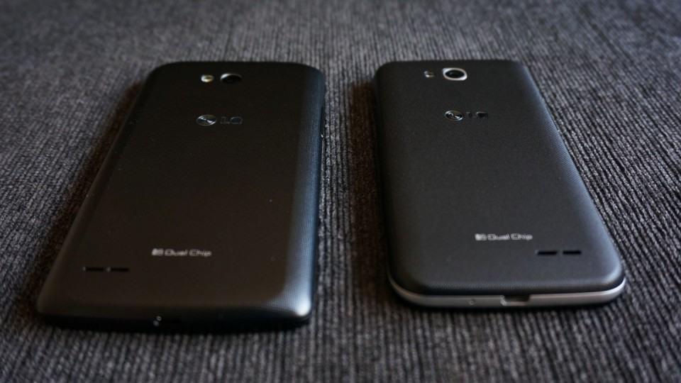 L80 e L90, vistos de costas.