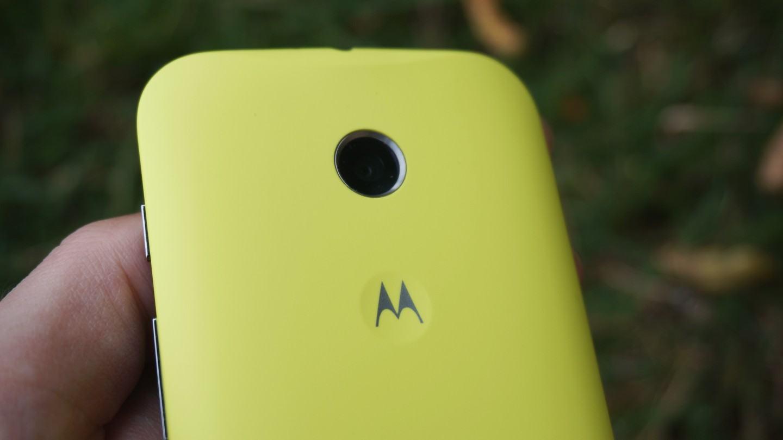 Capa amarela do Moto E.