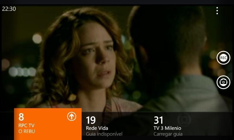 TV digital no Lumia 630.