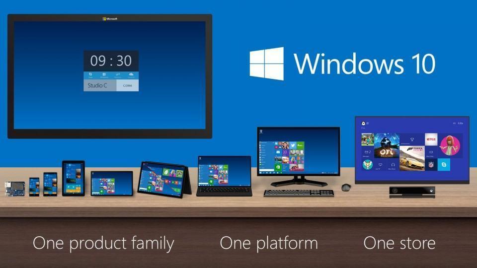 Windows 10, de smartphones a TVs gigantes.